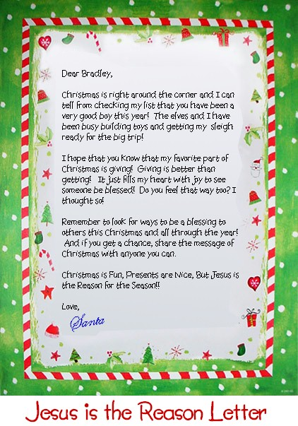 Personalized Letter From Santa Claus Letter From Santa Claus