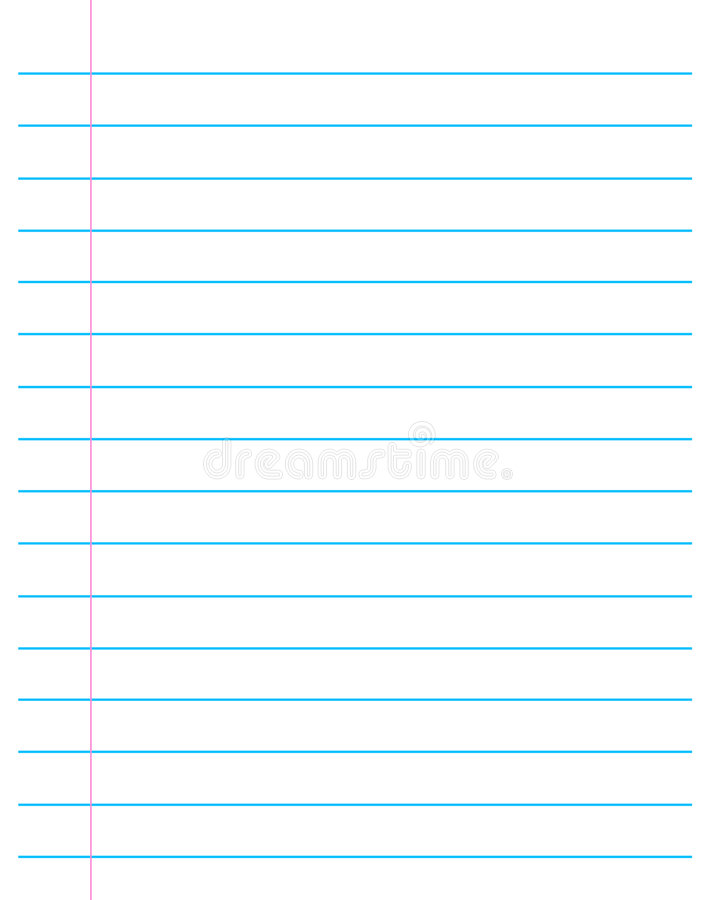 Lined paper stock vector. Illustration of paper, supplies 8826220