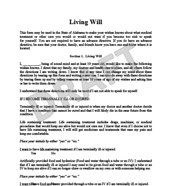 printable living will forms free Redbul