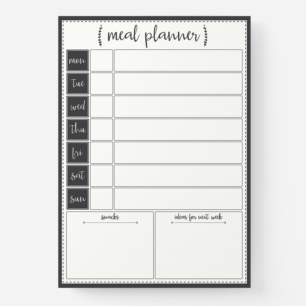 Rosa Meal Planner by RIFLE PAPER Co. | Made in USA