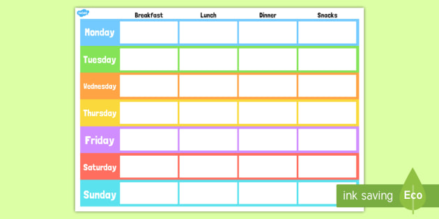 Reusable Meal Planner Classic Black & White Design ATP