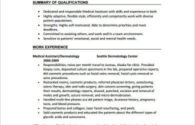 medical assistant resume samples no experience