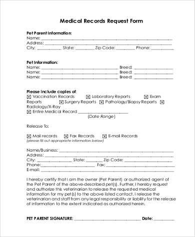 Fillable Online Medical Records Request Form Harnett Health Fax