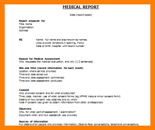 8+ medical report sample | edu techation