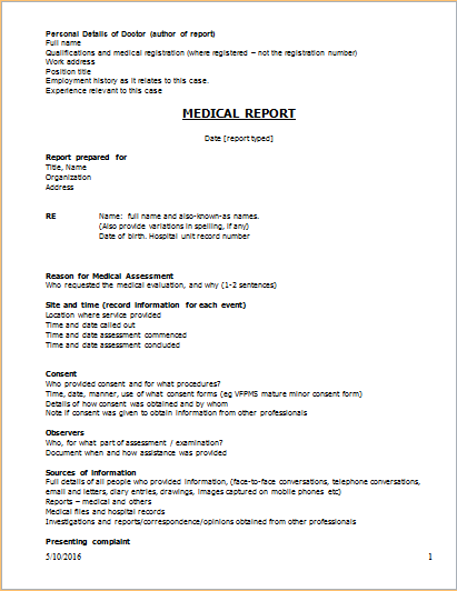 medical report Dorit.mercatodos.co