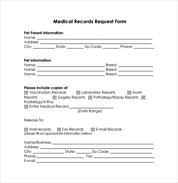 request for medical records cover letter medical records request