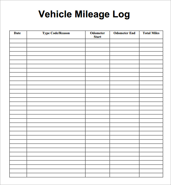 Excel Templates Vehicle Mileage Log Book