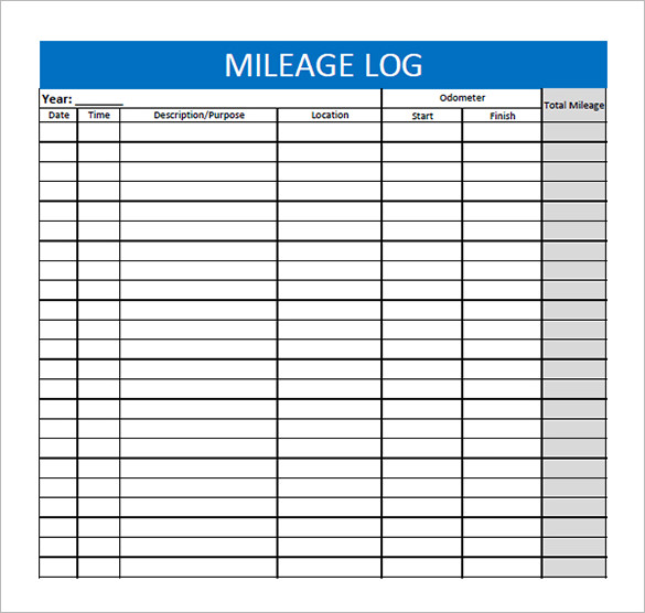 Mileage Log Templates Mileage Logs | The Best Snowboards
