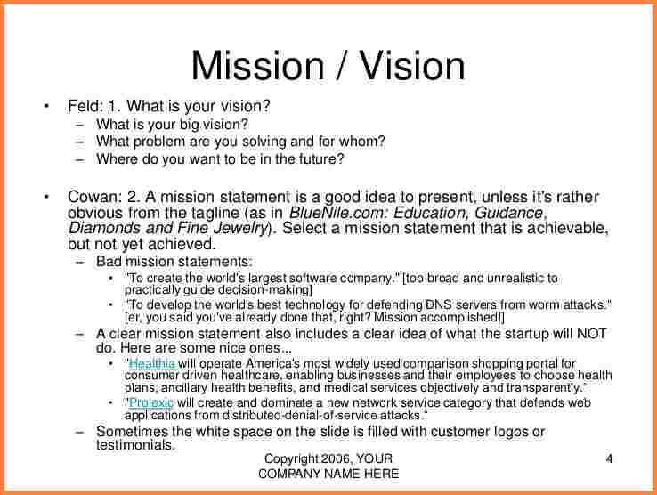 6+ business mission statement example | Statement Synonym