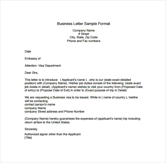 Business Letter Model Letters Free Sample Letters with regard to
