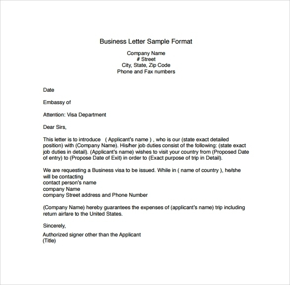 Standard Business Letter Format Chappedan Intended For Model