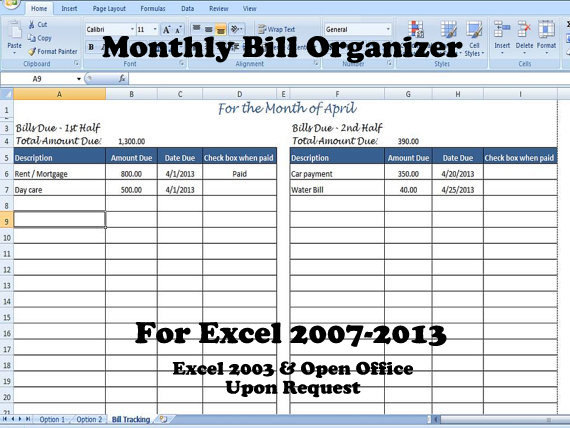 28 Images of Monthly Bill Payment Template Excel | dotcomstand.com