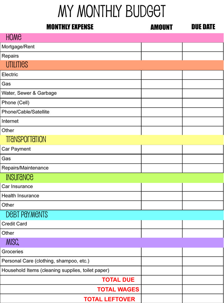 Monthly budget planner template 932 efficient then income – muboo.info