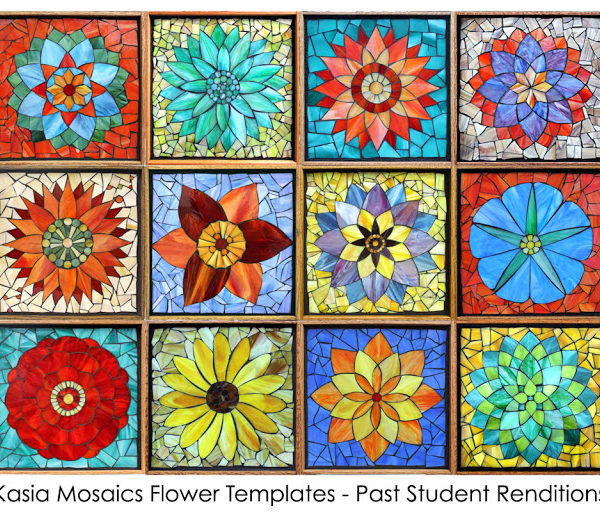 Kasia Mosaics Classes » Template Download: Complete Flower Set
