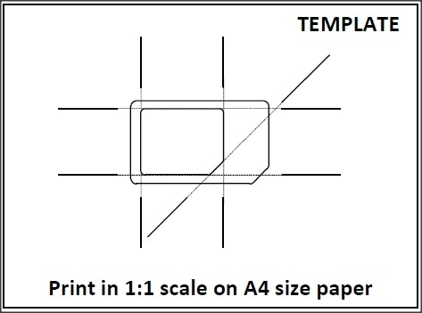 Micro Sim To Nano Template Cutting Guide