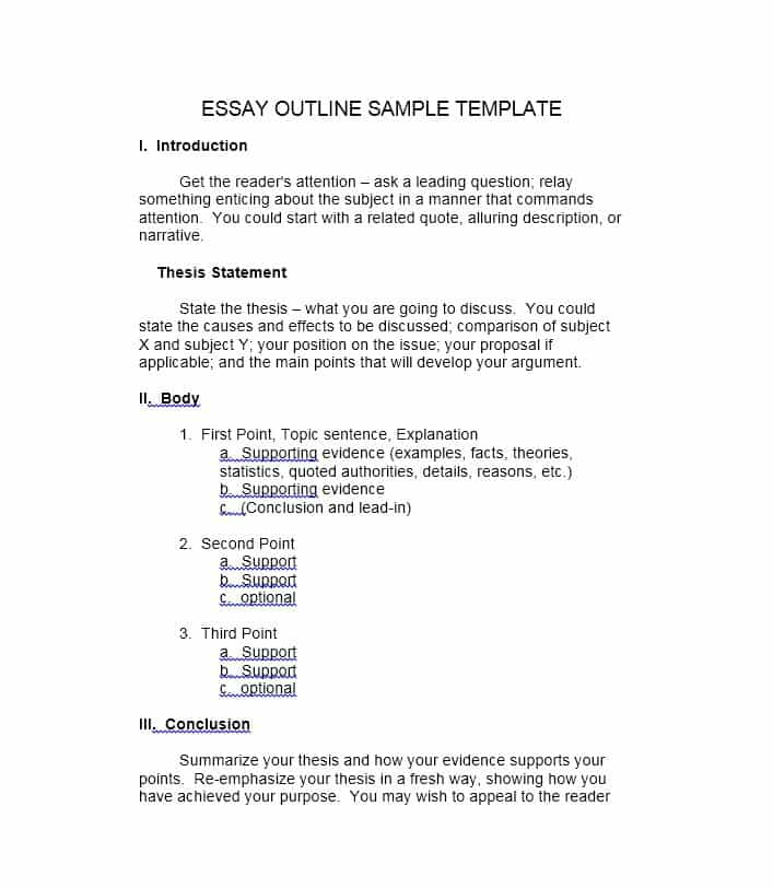 37 Outstanding Essay Outline Templates (Argumentative, Narrative