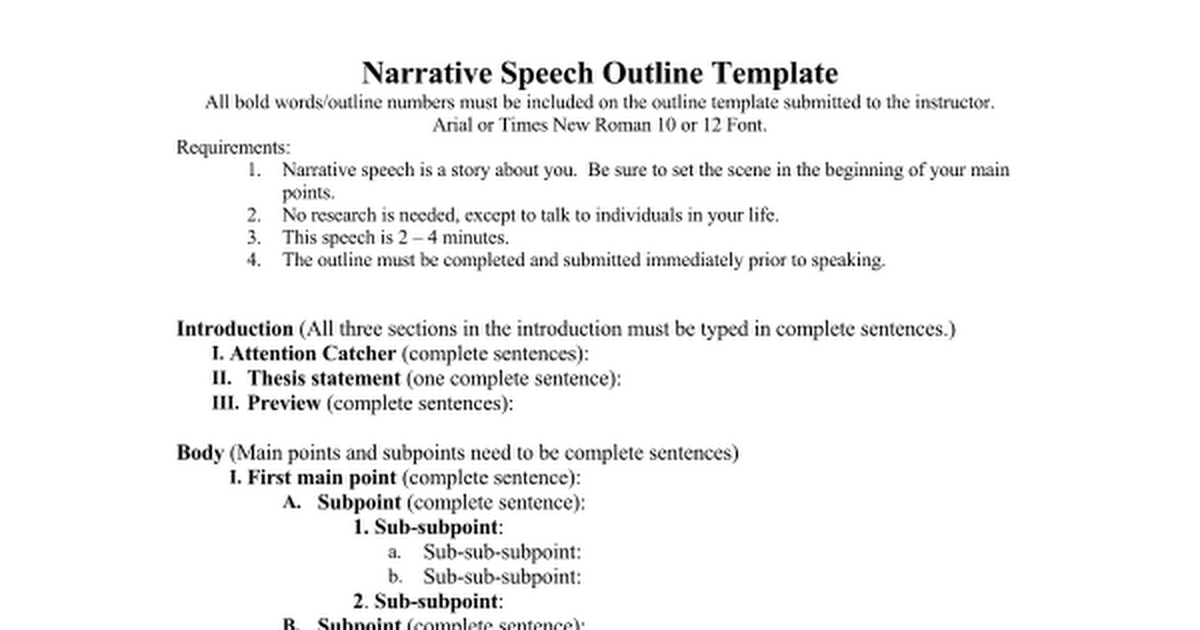 Narrative Speech outline.doc Google Docs