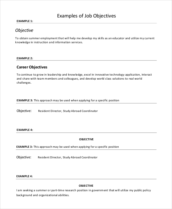 How To Write A Career Objective | 15 Resume Objective Examples