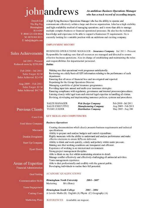 Operations Manager Resume Sample Pdf Business Operations Manager
