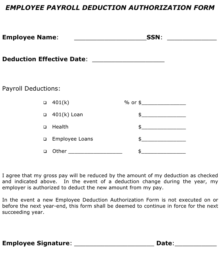 payroll agreement template download employee payroll deduction