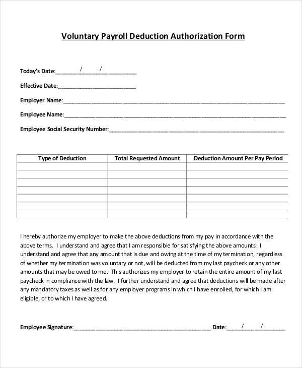 payroll deduction agreement template payroll agreement template