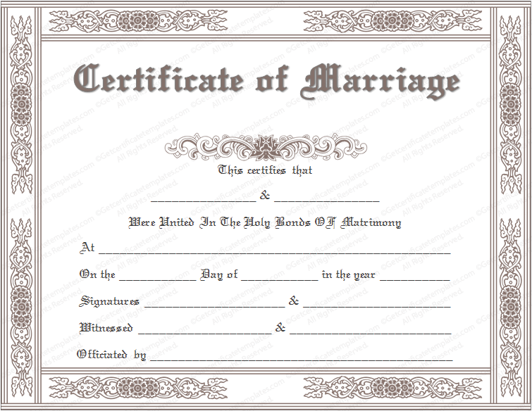 certificate of license template marriage license template marriage