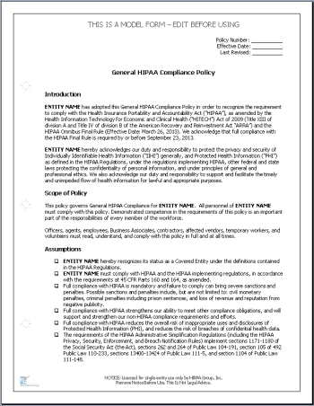 hipaa privacy and security policy template hipaa policies for
