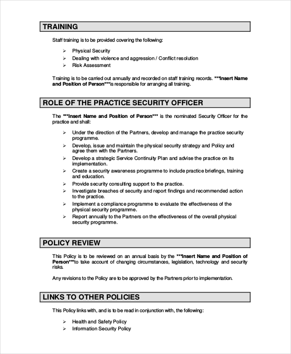 wireless security policy template security policy template 7 free