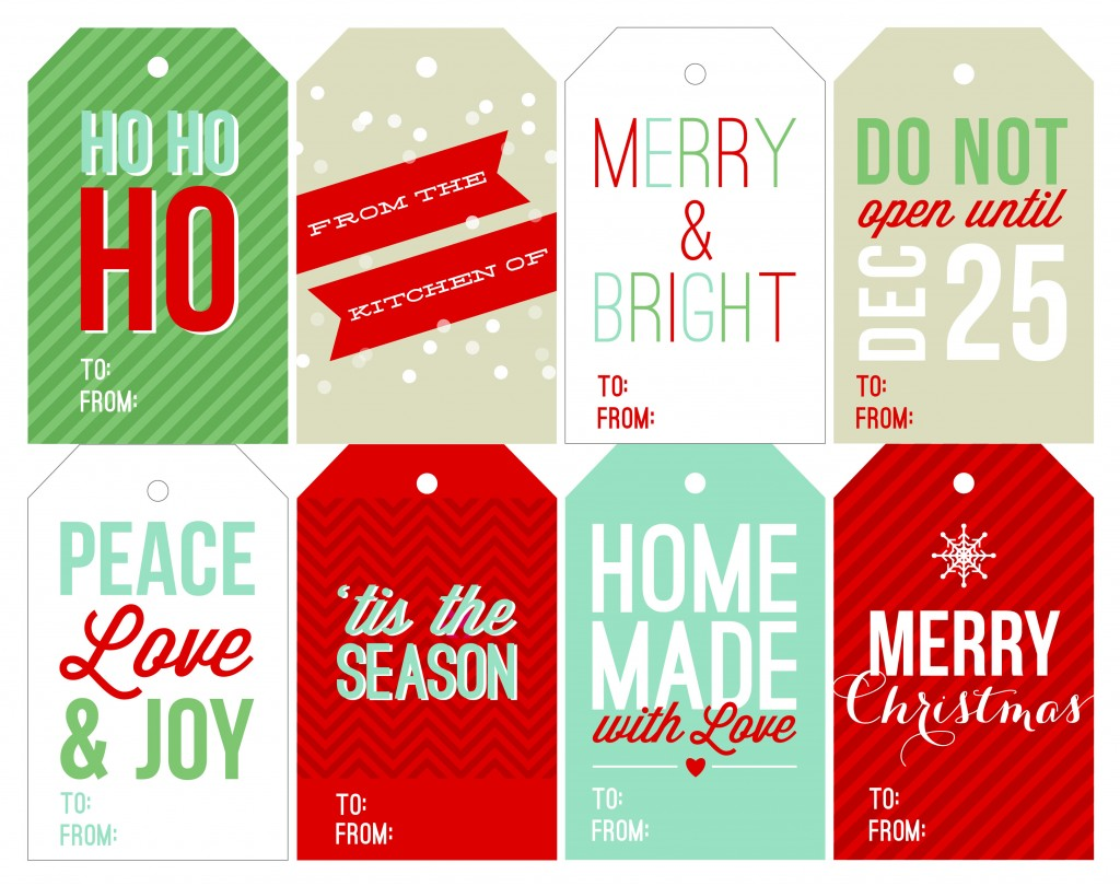 Free Holiday Printable Gift Tags | Two Peas & Their Pod
