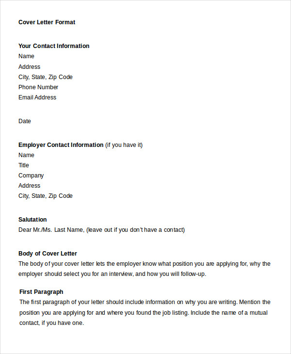 Professional Letter Format 22+ Free Word, PDF Documents Download