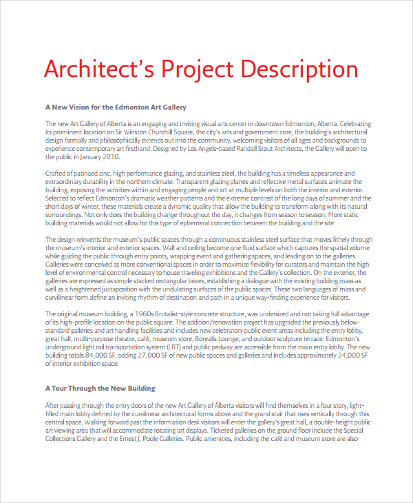 project description sample Roho.4senses.co