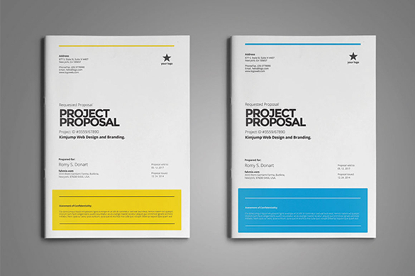 Project Proposal Template by fahmie on @creativemarket #webdesign