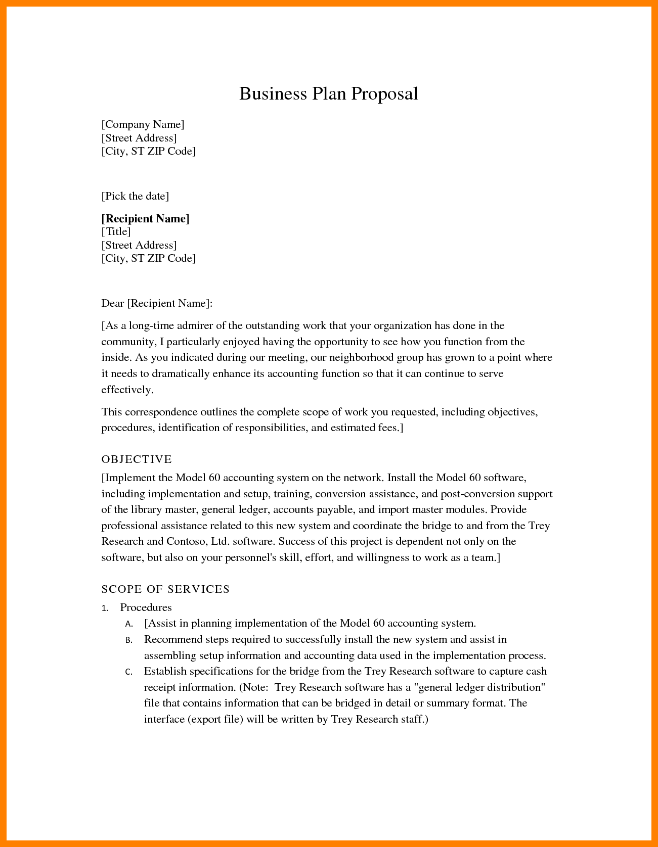 8+ business plan proposal | Procedure Template Sample