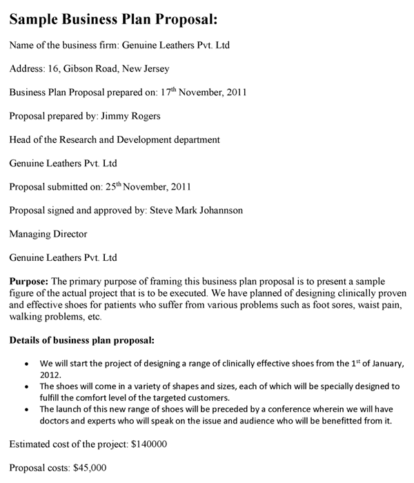 proposal plan template business plan proposal template business