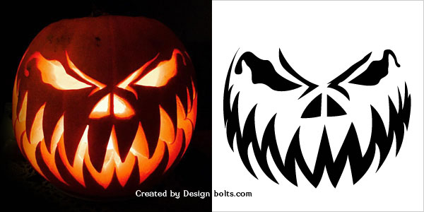 Scary pumpkin templates 10 free halloween scary pumpkin carving