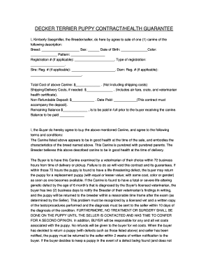 Health Guarantee Form Fill Online, Printable, Fillable, Blank