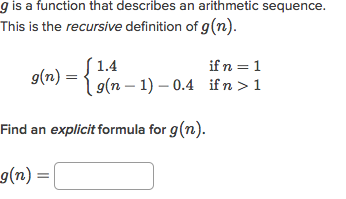 Recursive formulas for arithmetic sequences | Algebra (article