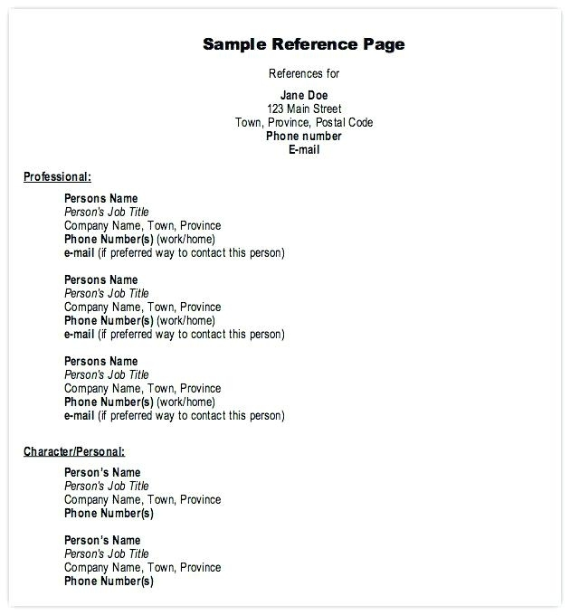 Reference Format On Resume Reference Format Simple Resume