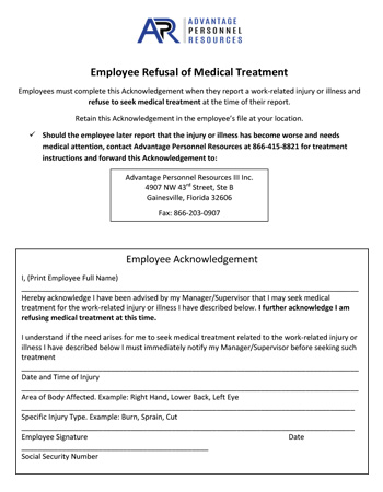 RefusalOfMedicalCareOrTranspor