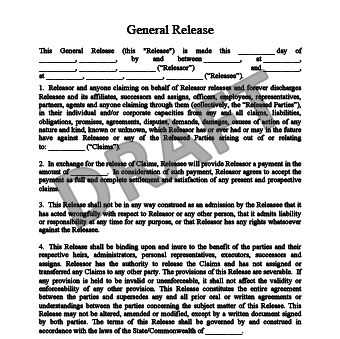 general release of liability form template release of liability