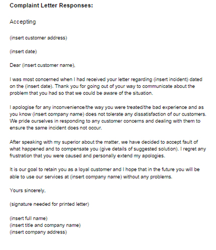 14+ Response Letter Template Free Sample, Example Format
