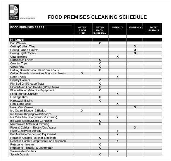 restaurant kitchen cleaning checklist pdf Yeni.mescale.co