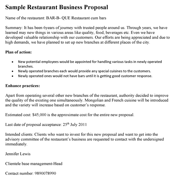 restaurant proposal template Yeni.mescale.co