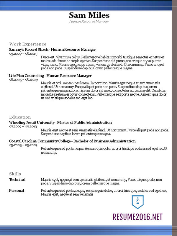 Resume templates 2016 • Which one should you choose?