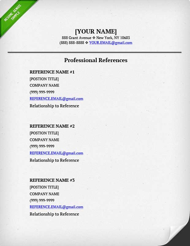 Mail Format For Sending Resume With Reference New References For A
