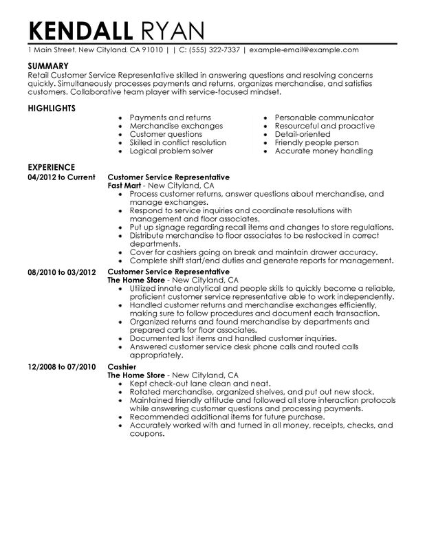 Retail Resume Summary Resume Examples For Retail Popular Example