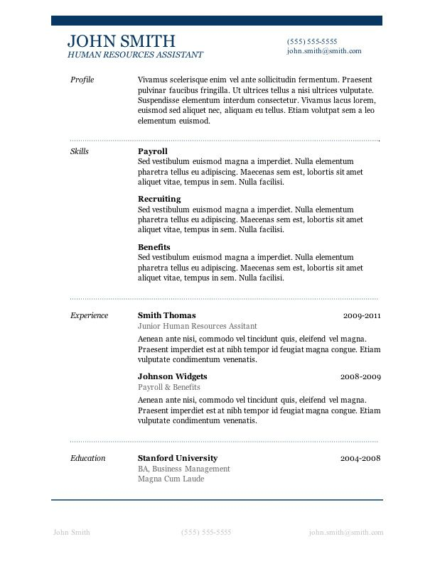 7 Free Resume Templates | Microsoft word, Microsoft and Sample resume