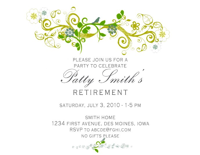 free templates for retirement party invitations invitation to