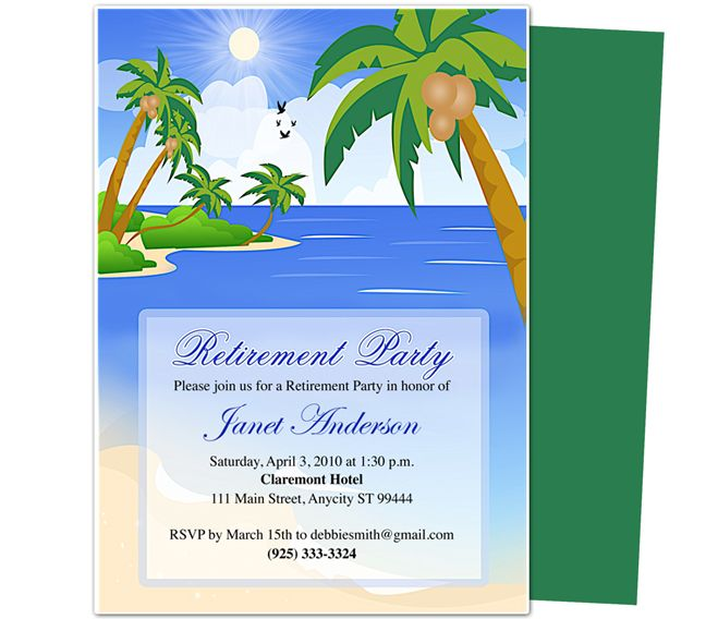 retirement template free free printable retirement party