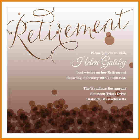 retirement template free free retirement flyer template 7 free
